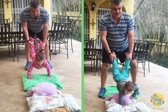 Have fun with your children while strengthening their core by playing the wheelbarrow game!