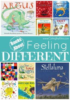 Books for kids about feeling different.  Help kids learn to love what makes them unique!  Brief reviews of each.