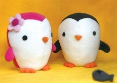 Cute Penguin Pattern soft toy sewing pattern PDF by DIYFluffies Sewing Stuffed Animals, Cute Stuffed Animals, Stuffed Animal Patterns, Sewing Toys, Sewing Crafts, Sewing Projects, Sewing Kit, Sewing Ideas, Softies