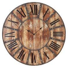 Rustic Clock #rustic #clock