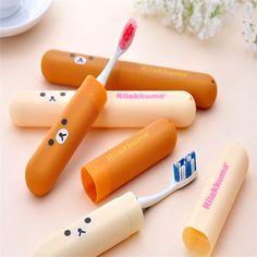 1 Portable Toothbrush Box Cartoon Bear Mini ABS ToothBrush Box Case Travel Tooth brush Holder Cover Bathroom Product #Affiliate
