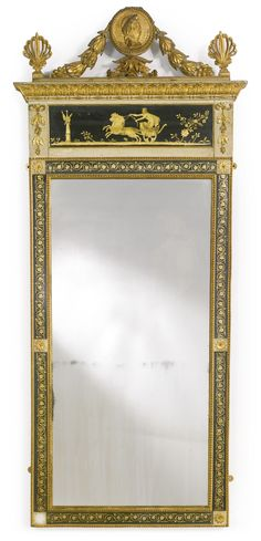 An Italian parcel-gilt and cream-painted mirror possibly Lucca, circa 1800 | Lot | Sotheby's