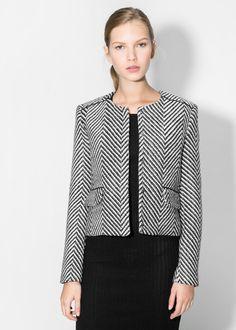 Herringbone jacquard jacket