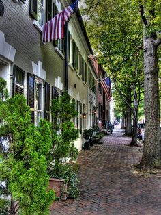 Old Town Alexandria VA. Ate at a restaurant here on my birthday. Love this area!