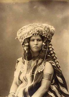 Vintage portrait of an Amazigh (Berber) woman