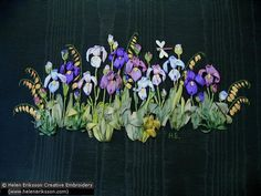 Kit: Spring Bulb Collection – Irises - Helen Eriksson - Creative Embroidery