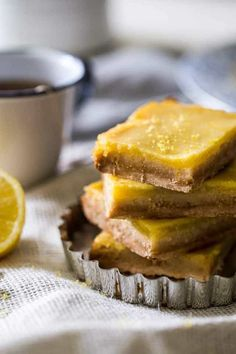 The classic lemon bars get a Paleo-friendly makeover! only 5 ingredients.