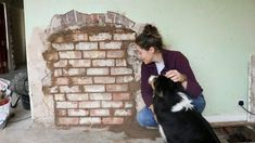 How To Lay Bricks In A Fireplace Hole Brick Laying Brick Old Fireplace