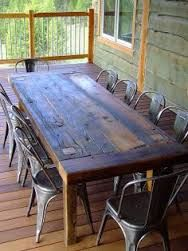 Image result for diy harvest upcycled industrial picnic table