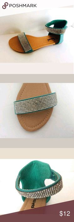 Girls flats Cute teal flats  Girls size 12 No box - my daughter them on and they are too big. Shoes Sandals & Flip Flops