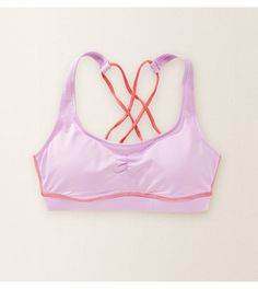 Crystal Lavender Aerie Crisscross Sports Bra - The cute side of comfort! Flexible support for yoga, workouts & more! #Aerie