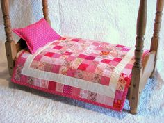 Doll Quilt  American Girl and other 1518 Dolls  by DollPatchworks