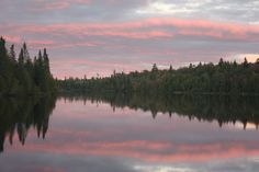 In the Boundary Waters you can see the sunset over the trees or watch how it affects the rest of the sky. It's always wonderful to watch the sun set in the Boundary Waters. Boundary Waters, Campsite, Canoe, Wilderness, Trail, Rest, Sky, Mountains, Sunset