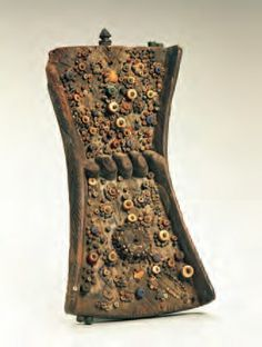 Lukasa (memory board). Mbudye Society, Luba peoples (Democratic Republic of the Congo). c. 19th to 20th century C.E. Wood, beads, and metal.