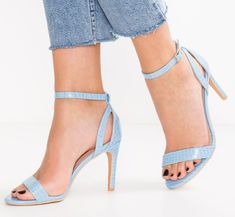 All the style with a little less heel! A gorgeous summer blue with an ankle strap and cut out details. Pair them with jeans, shorts, skirts and dress to compete your summer outfit! Mid Heel Sandals, Heels, Ankle Strap, Dress Skirt, Summer Outfits, Spring Summer, Pairs, Boutique, Style