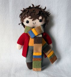 Tom Baker Doctor Who plushie by Miss Coffee on Deviant Art