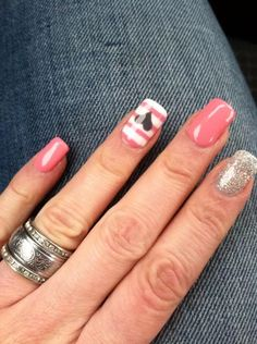Pink, stripes, sparkles, salmon, coral, hearts