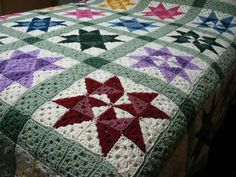 Crocheted quilt Afghan Pattern