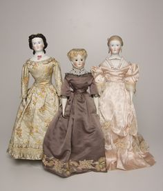 Dolls from the collection of Strong National Museum of Play. Victorian Dolls, Antique Dolls, Vintage Dolls, Doll Display, China Dolls, Doll Costume, Old Dolls, Antique China, National Museum