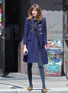 Alexa Chung again-just love the blues and her silly loafers.