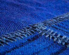 Vintage-Kelims Oriental handgemachte blaue Streifen, Jetzt auf Verkauf,bis zu 400cm x 500cm