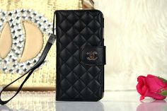 Chanel iPhone 6 Lamskin Leather Case Bag Black Free Shipping - Deluxeiphone6case.com