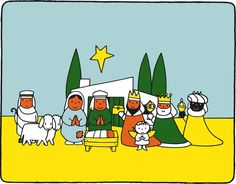 Would love to emboider this nativity scene of Dick Bruna!