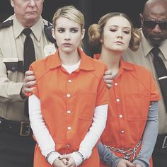 Scream Queens finale filming. Did the Chanels get framed? They couldn't possibly be the killers...