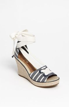 Back to reality. These are so cute and look comfy, too. And...would go w/anything denim or natical themed.