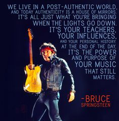 Bruce Springsteen- 21 Powerful Quotes That Capture The Magic Of Music Music Quotes, Music Lyrics, Music Sayings, Song Quotes, Elvis Presley, Music Is Life, My Music, Bruce Springsteen Quotes, The Boss Bruce