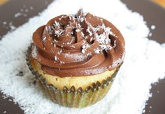 Coconut flour cupcake with chocolate buttercream!!