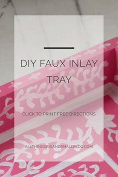 Make your own DIY faux inlay tray with simple materials for under $15. A step-by-step tutorial. Read more on how to accessorize your home on a budget with this and other budget-friendly DIY projects! Repin this and click through for a full tutorial!
