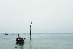 A Thai fishing boat on the island of Ko Lanta, Thailand.