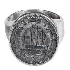 Renaissance Silver Signet Ring-circa 1580