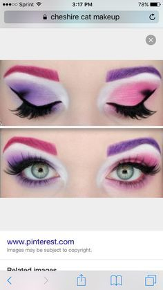 Discover recipes, home ideas, style inspiration and other ideas to try. Cheshire Cat Halloween Costume, Devil Halloween Costumes, Cool Halloween Makeup, Up Halloween, Kid Costumes, Devil Costume, Costume Ideas, Cheshire Cat Makeup, Cat Eye Makeup