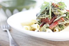 awesome gestational diabetes site..Creamy Pesto Penne with Mushrooms