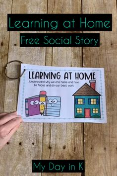 Help little learners understand why they are home and how to focus while they work during distance learning! This FREE Social Story will ease worry and help primary students adapt to this new learning environment. Click the picture to read more. Autism Learning, Social Emotional Learning, Home Learning, Learning Resources, Social Skills, Kindergarten First Day, Kindergarten Literacy, Preschool, Personal Space Social Story