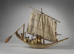 Model of a Boat, Egypt, 9th-11th Dynasty (c. 2125 - c. 1940 BC). Boat models were included in burials to symbolically recreate the final journey. In an ideal funeral, the last voyage was the transportation of the mummy by boat to Abydos in Upper Egypt, to visit the sacred area belonging to the god Osiris. http://www.ashmoleanprints.com/image/453771/model-of-boat