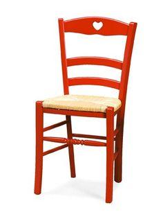 Mobilier restaurant - chaise bois Petit Coeur