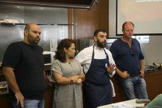 Os chefs... Agenor Maia (Olivae), Fabiana Pinheiro (Versão Tupiniquim), Simon Lau (Aquavit), e Sebastian Parasole (coordenador de gastronomia do IESB).