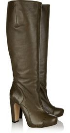Roland MouretMichelle textured-leather knee boots