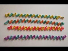 Diy Schmuck, Schmuck Design, Daisy Chain, Bracelet Tutorial, Macrame Tutorial, Flower Bracelet, Beading Patterns, Macrame Patterns, Friendship Bracelets
