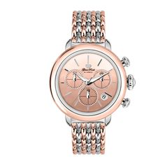 Glam Rock Watches / Rose Gold IP Stainless Steel Case Cover and 7 Link Rose Gold IP Two Tone Bracelet