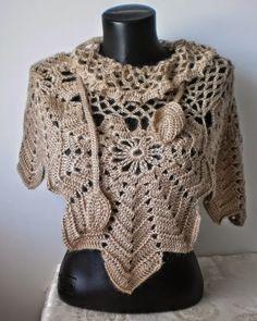 "Irish crochet &: Накидка ""Кленовый лист"""