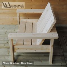Northern Pine Bench – Wood Structure Design – Made in France by Merlot Sarl – Armchair – Bench – Wood furniture and Garden furniture Source by raymondgalmes Wooden Patio Chairs, Wood Patio Furniture, Wooden Patios, Diy Outdoor Furniture, Outdoor Chairs, Furniture Ideas, Furniture Repair, Furniture Websites, Furniture Market