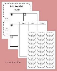 Noun dice game
