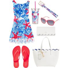 She Shells by literallyicant on Polyvore featuring polyvore, fashion, style, Old Navy, Kate Spade and Lilly Pulitzer
