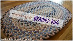 a hand braided rug to cosy up a corner in a kindergarten classroom