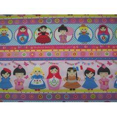 Mñecas del mundo Venta de todo tipo de estampados en patchwork en 100% algodón. Visita nuestra web, www.centrotela.es
