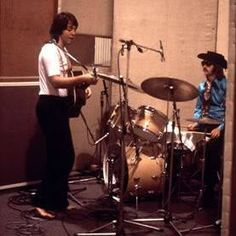 Paul and Ringo at the session to create the album Abbey Road